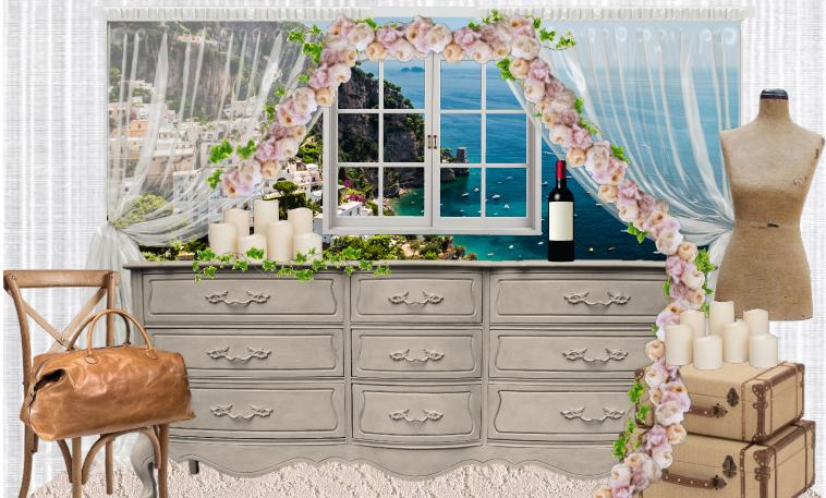 LLG Events custom Honeymoon Table design on Photoshop