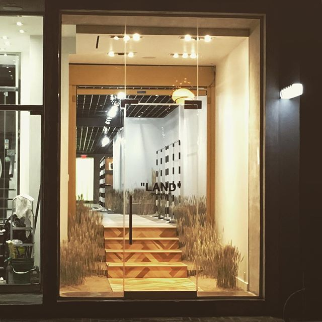 "Our latest project opens today at 83 Yorkville ave. ""LAND"" @off____white  #greynorth #toronto #yorkville"