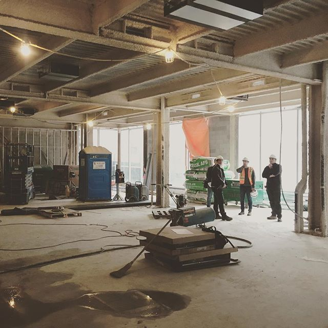 New floor is poured and ready for polish.  Fireproofing is done.  Time to hit the ground running on the new @cntrbndofficial @greynorth #retail #design #projectmanagement #toronto #yorkville