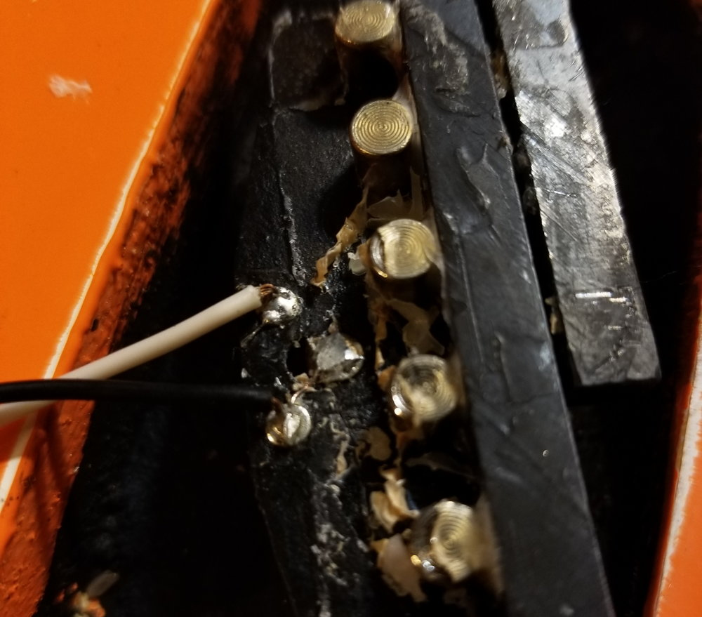 Convert A 2 Wire Tele Neck Into 3 Gunstreet New Approach 2wire Humbucker Wiring How To Pickup