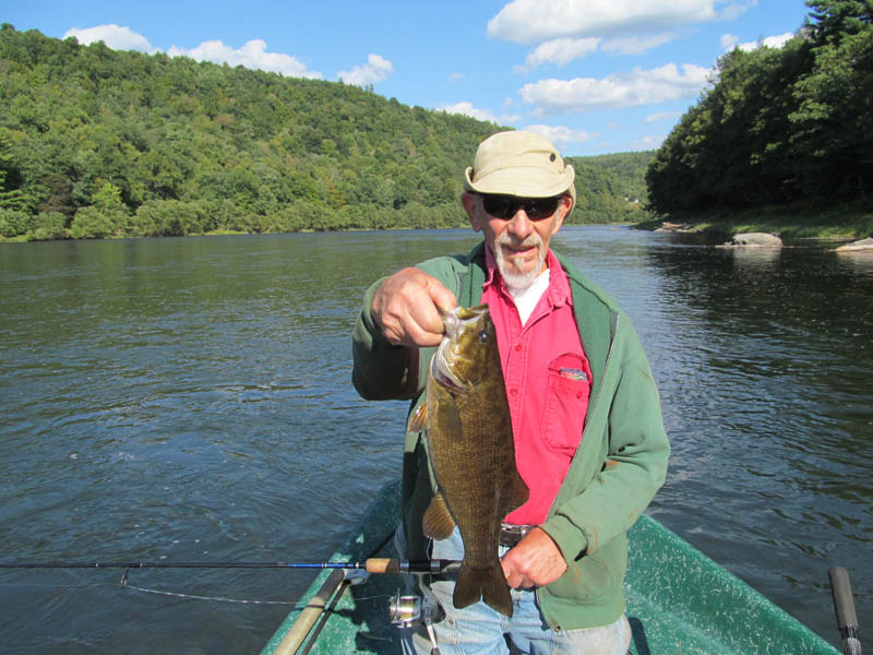 Smallmouth Bass on the Upper Delaware River with Sweetwater Guide Service