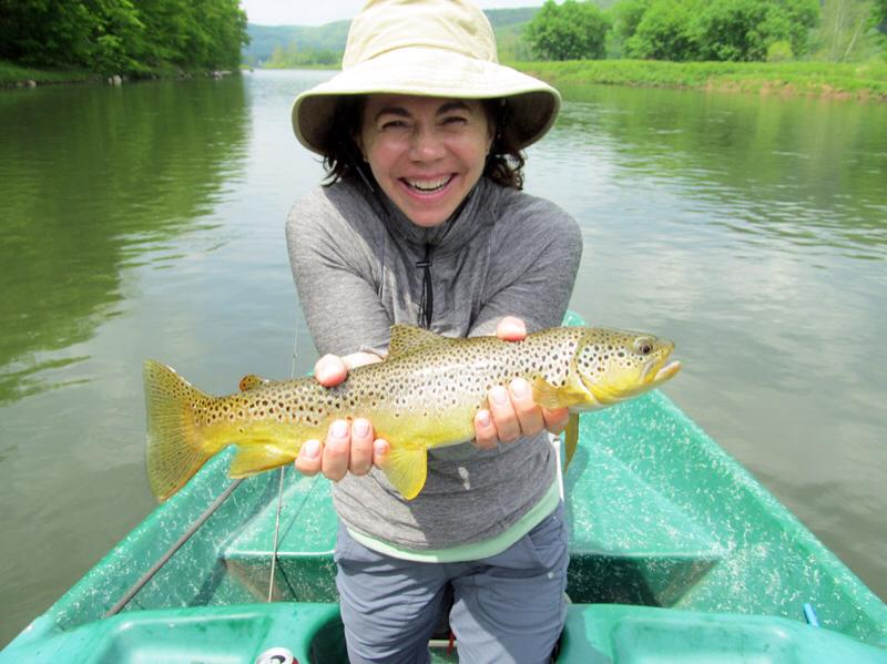 Women Trout fishing on the Delaware River with Sweetwater Guide Service
