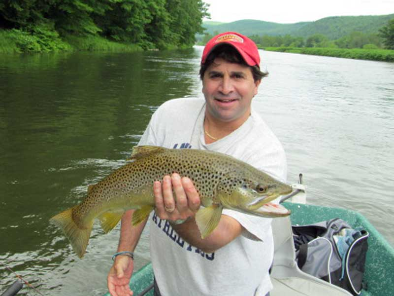 Brown trout fishing , Delaware river Sweetwater Guide Service