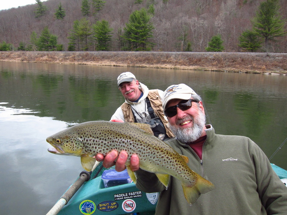 Guide Mike P. holding Andy's second picture worthy fish of the day!