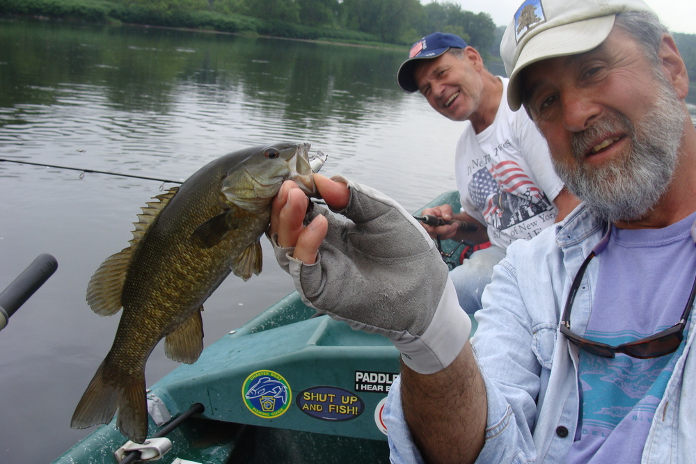 5/26.15  Tony strikes with a nice smallie!