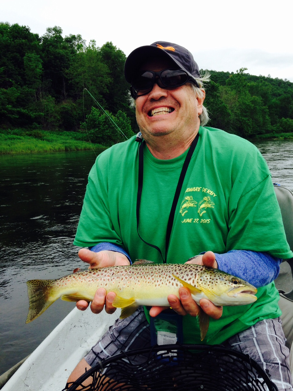 6/20/15 Frank A. with his first Delaware River Brown trout!