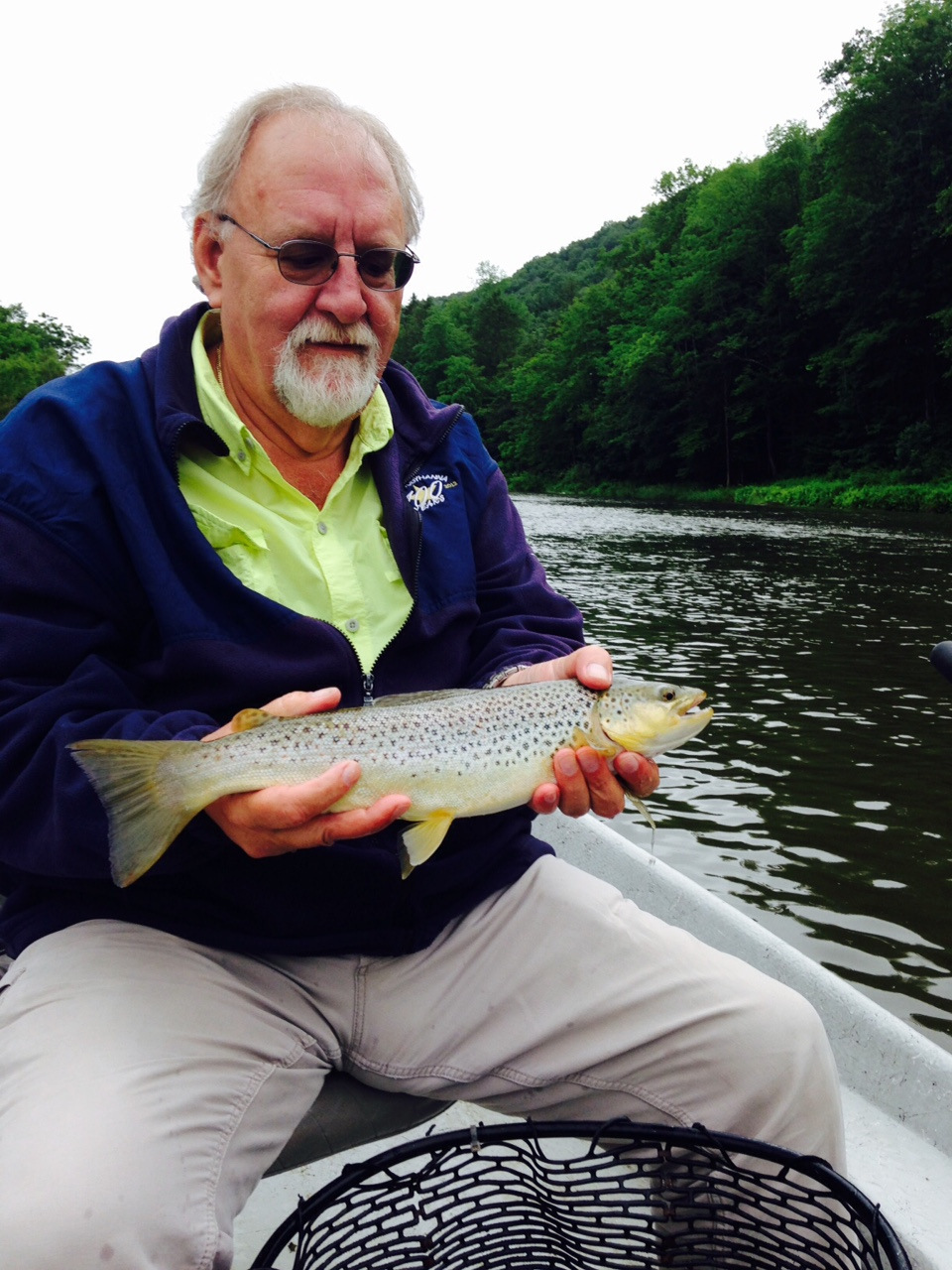 "Steve with a nice 18"" Brown trout!"