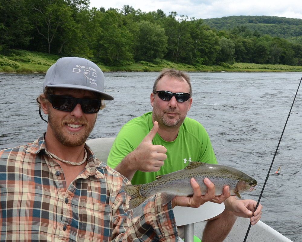 8/16/15  Aaron gets a nice Wild Rainbow trout as well