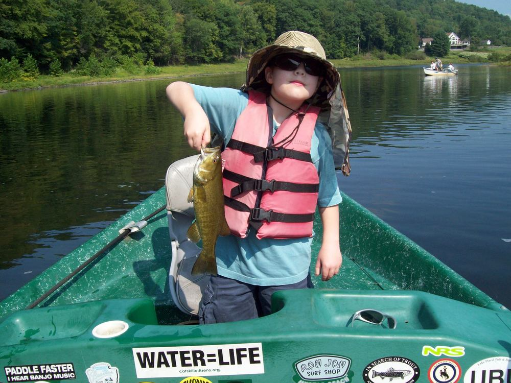 8/31/15Kyle D. catches a nice Smallie!