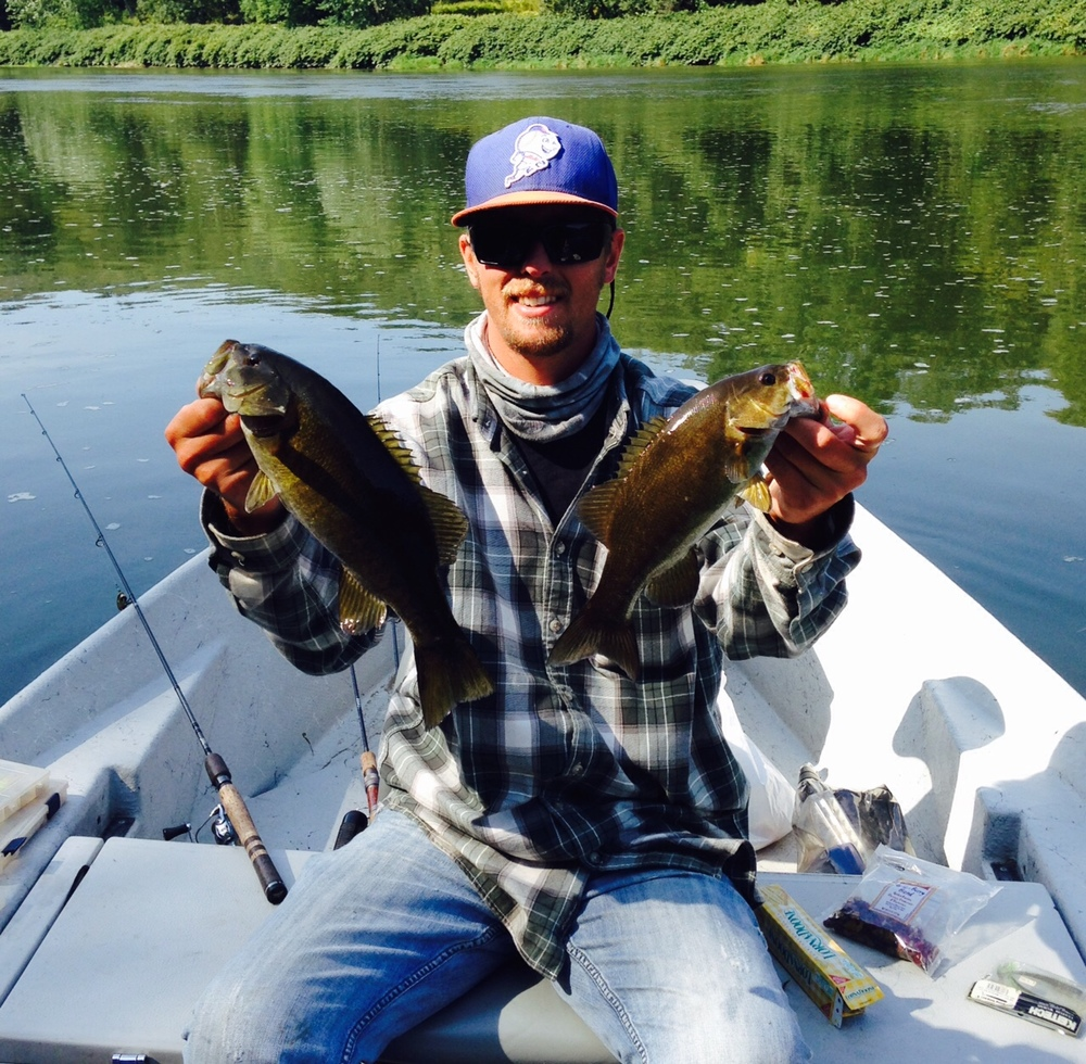 09/19/15Dan B. and Guide Evan P. double up on Smallmouth Bass as well!