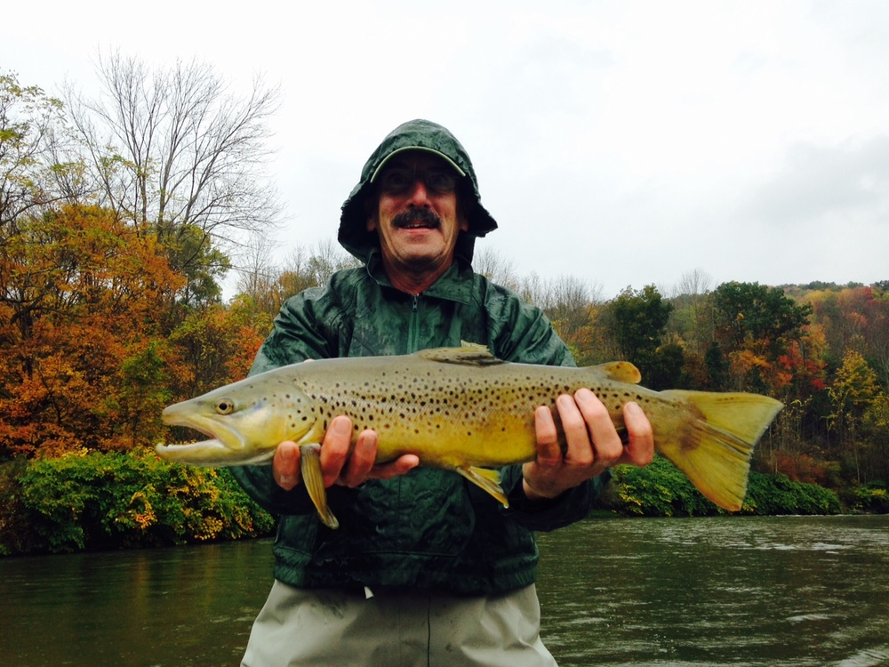 "10/9/15 George W. caught this slammer 21"" brown on the West Branch!"