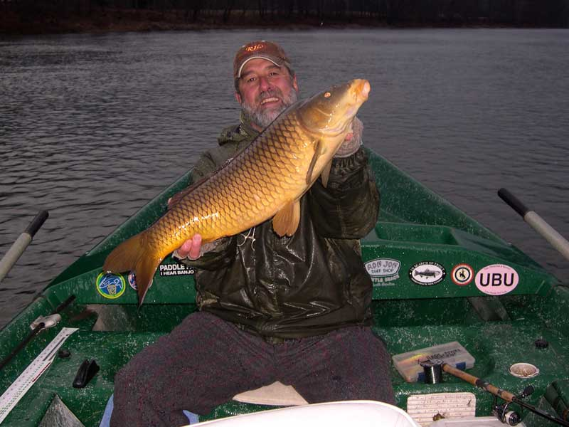 "Guide Michael P. with a 30"" 12lb Common Carp"