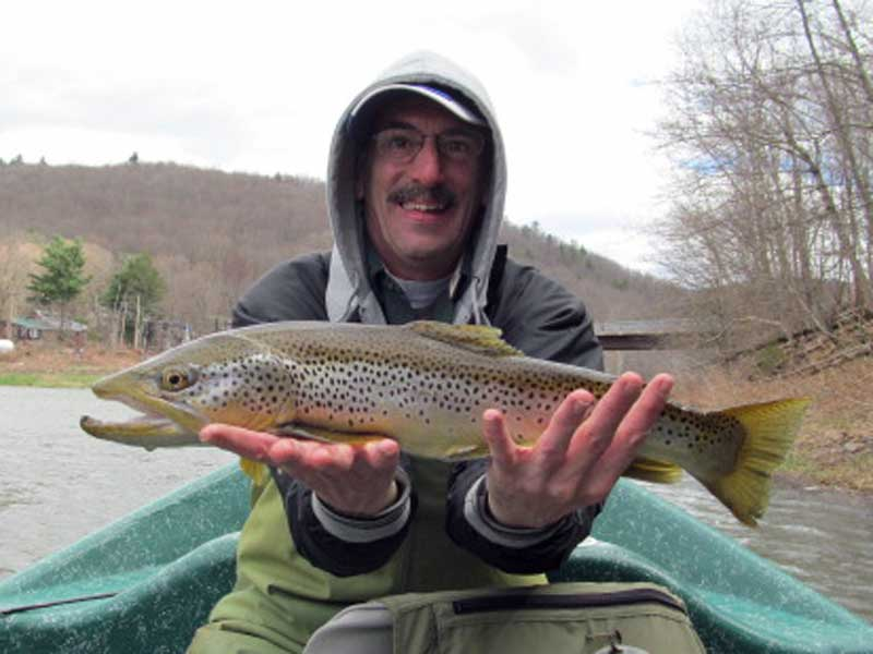 "George W. with a 24"" Brown trout."