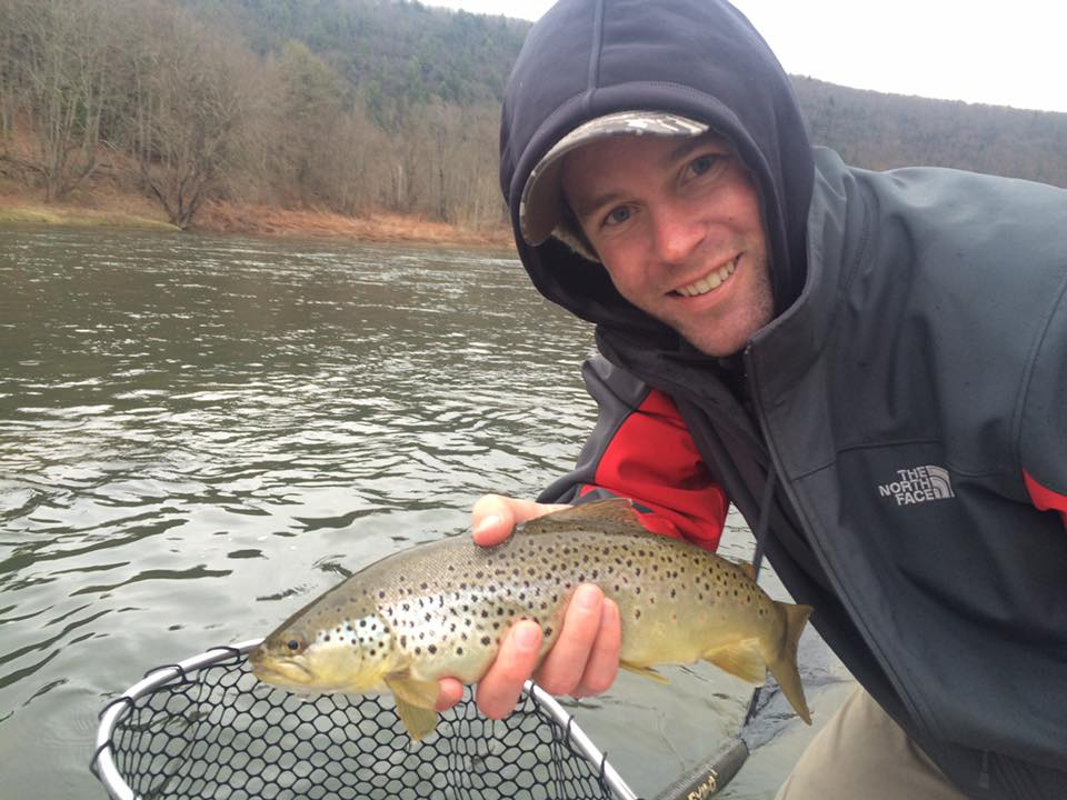 4/11/16  Kyle T. nets his first Delaware river Brown on a dry fly!