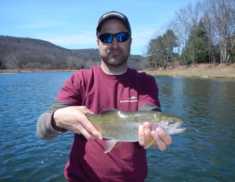4/17/16 Ralph D. slams a nice wild Rainbow trout.