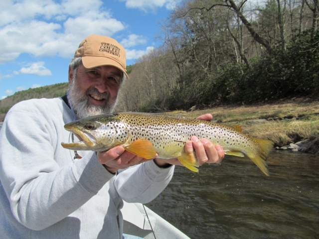 "20"" main stem Brown trout for Guide Mike P."