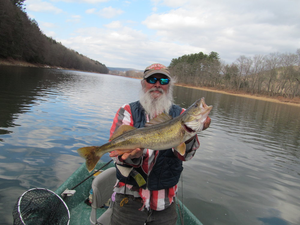 """2/23/17 Len caught this beauty of a 23"""" Walleye!"""