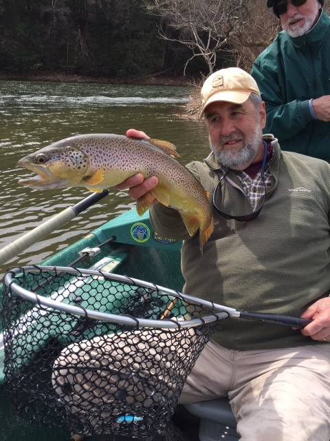 "Guide Mike P. displaying a 20"" Brown."