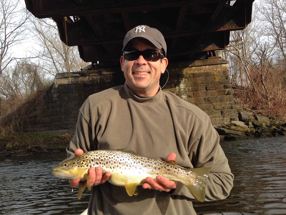 Dan B. with a hefty Brown trout.
