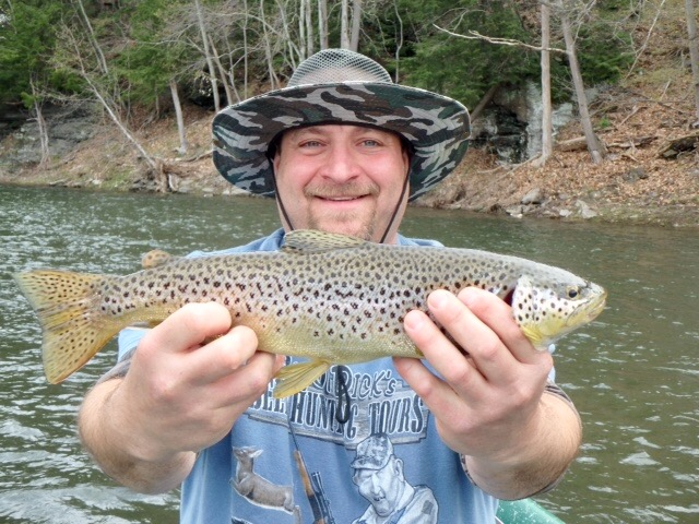 Beautiful spots on this Brown trout.