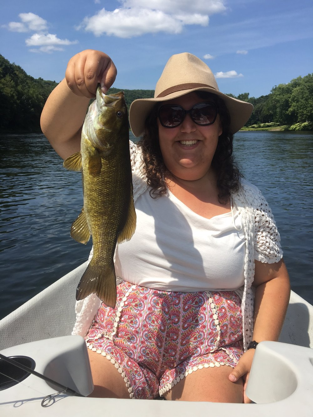 Tova's nice Smallmouth Bass.