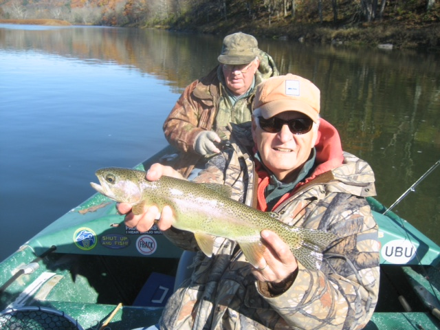 Jack M. with a nice Rainbow trout!