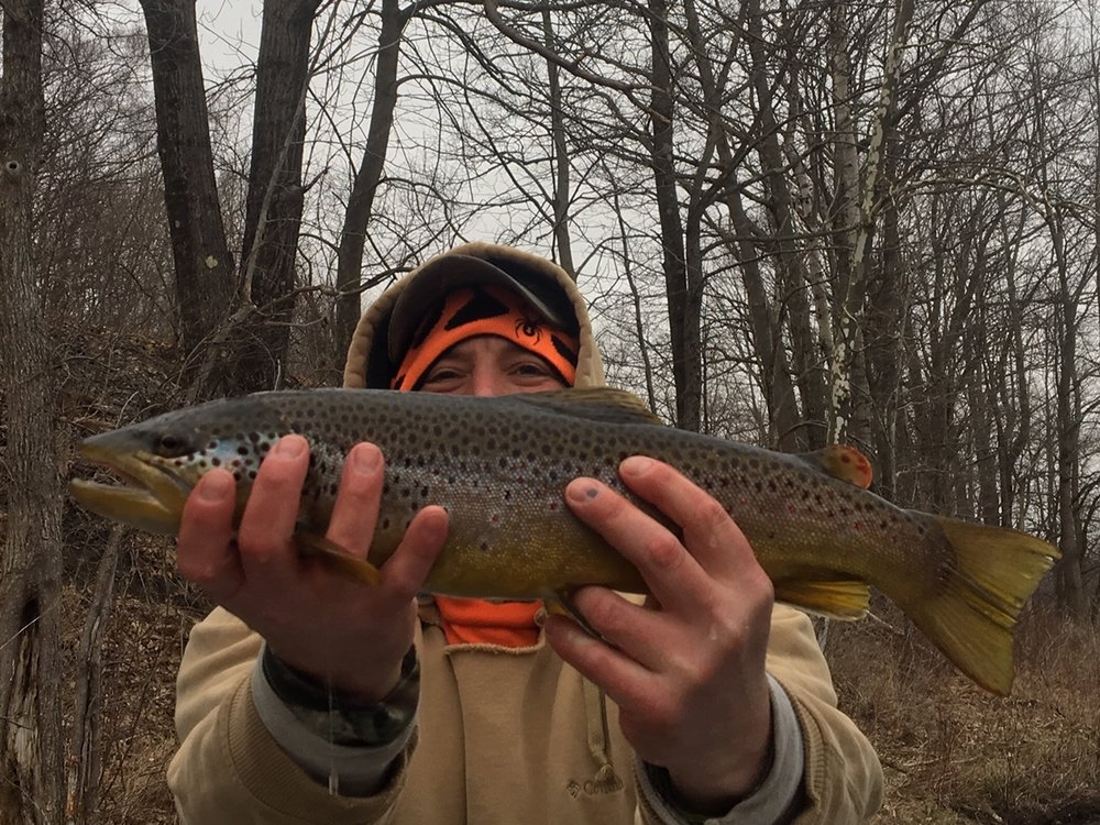 4/12/19 Anthony with a healthy West Branch brown trout.