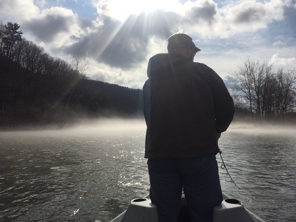 4/13/19 Brian G. enjoying the river in the A.M.