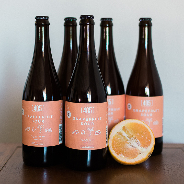 Grapefruit Sour - GFS is kettle-soured with our house lacto strains, brewed with 6 cases of Texas Ruby Red grapefruits and fermented with saison yeast. Tart, juicy and refreshing.Style: Grapefruit Sour      ABV: 6.2%    IBU: