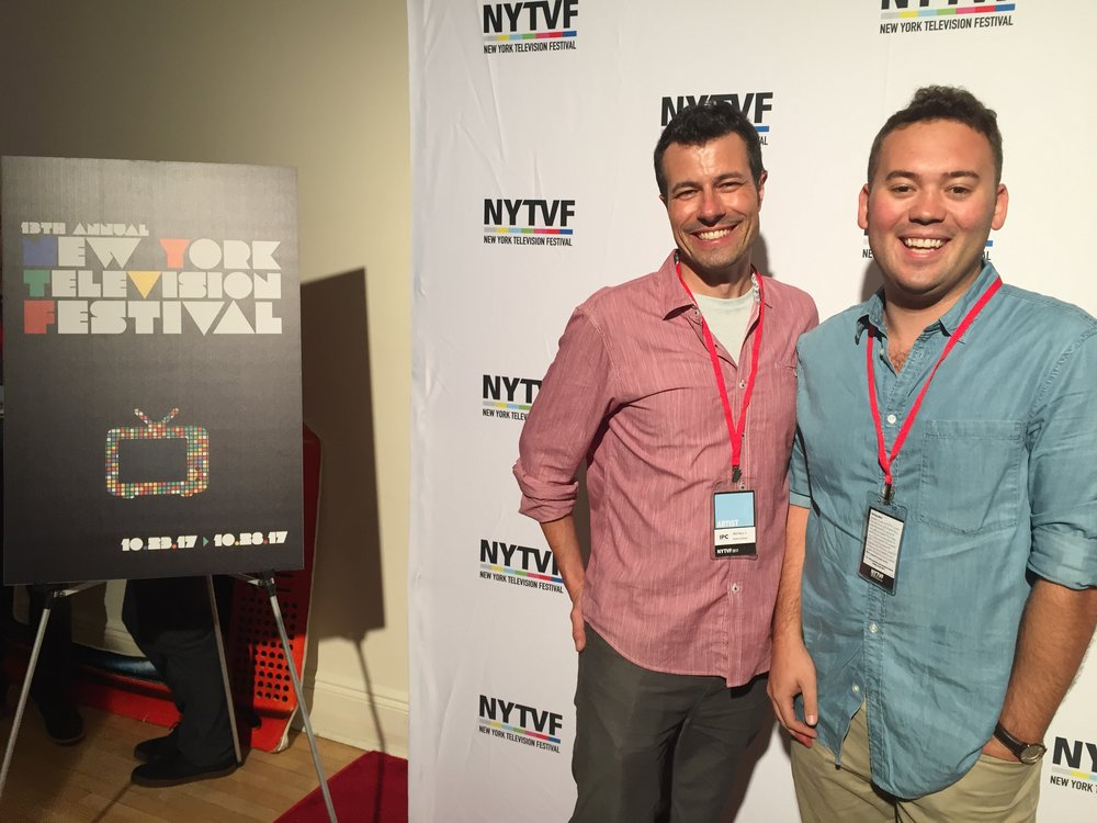 Attending NYTVF with Royally director Don Downie
