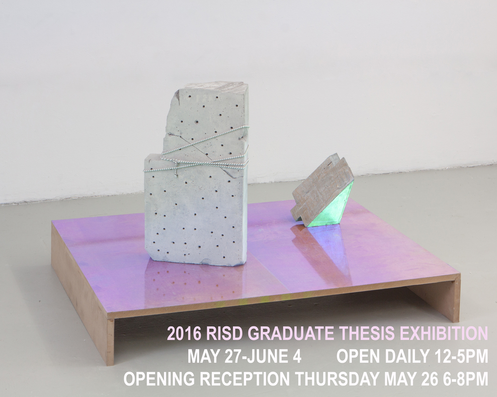 RISD GRADUATE THESIS EXHIBITION. 2016