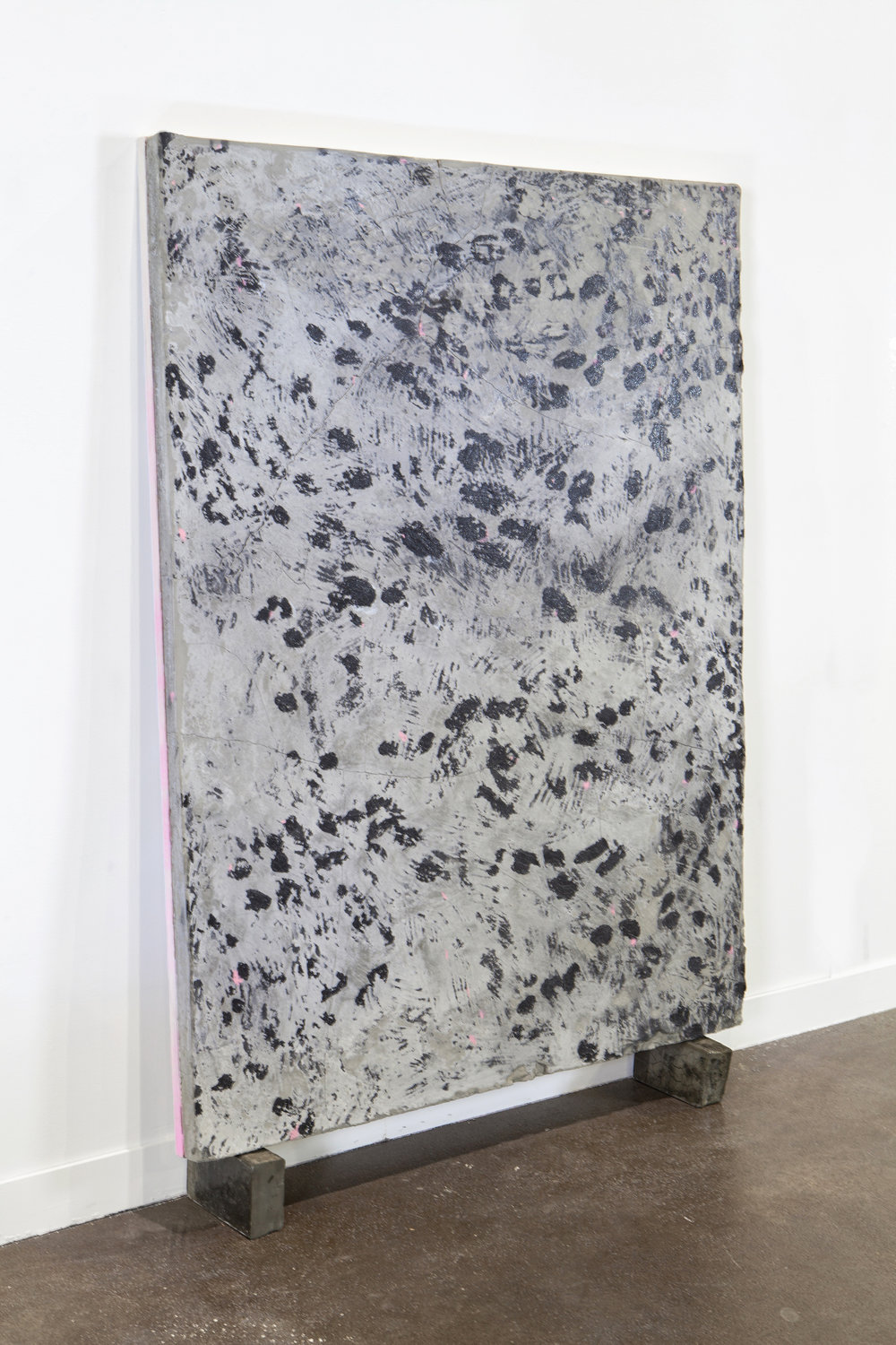 Static (slab), 2016  Cement, plywood, paint, resin. 3x4'