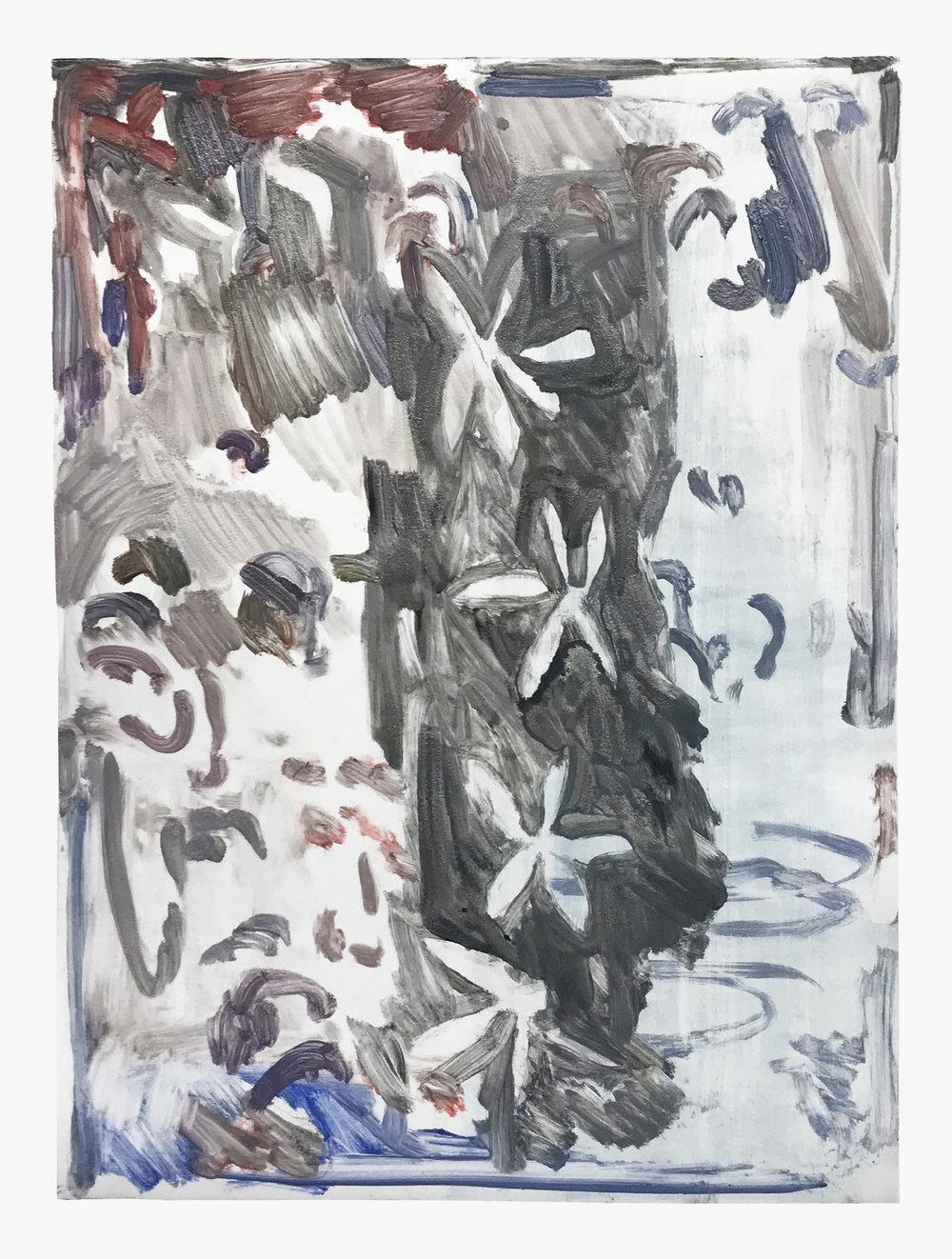 """2019  Oil paint monoprint. 20x28"""""""