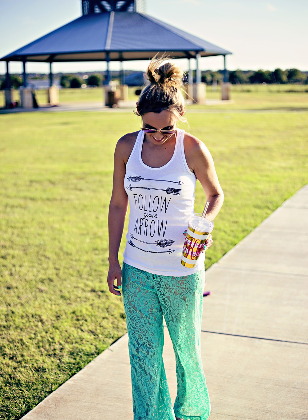 *Tank top-Daisy Dugies Boutique, Cup- Lucky Thread, pants- Sophie & Trey