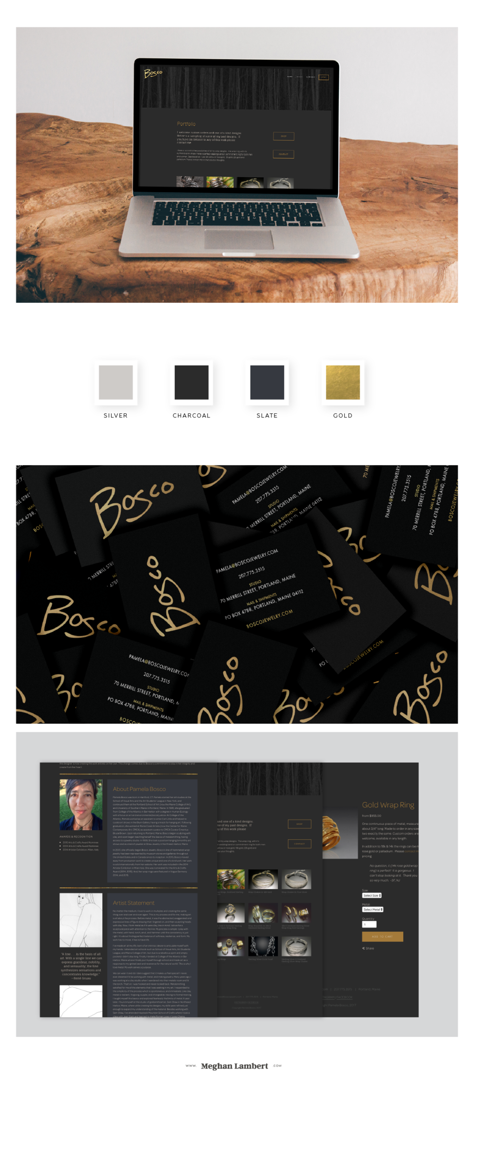 Bosco Jewelry Squarespace Design  by Meghan Lambert
