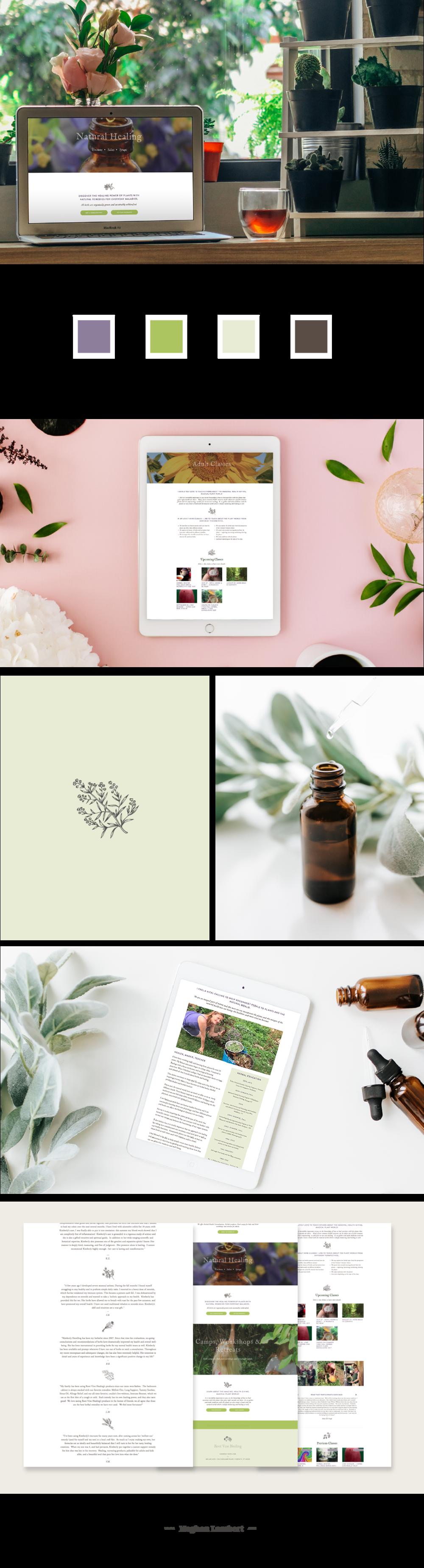Root Vine Healing Squarespace Websit Designt by Meghan Lambert