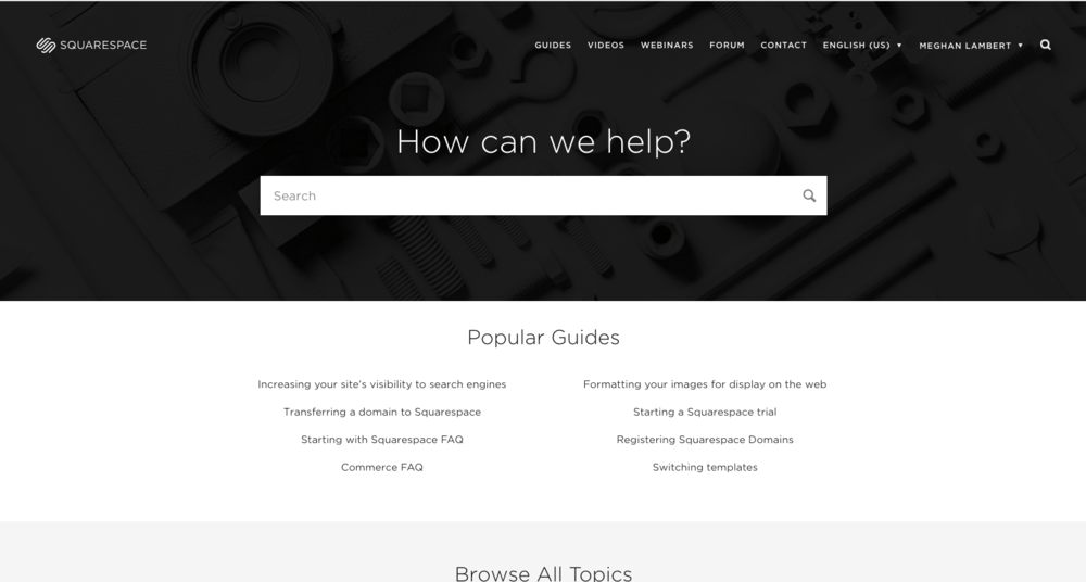 Squarespace Helpful Guides