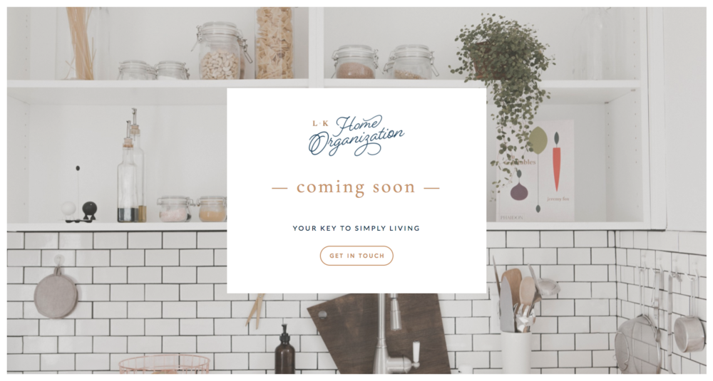 L+K Home Organization Coming Soon Page