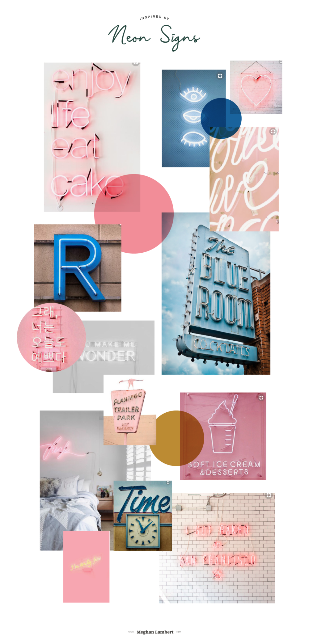 Inspired by Neon Signs from the Studio Journal of Meghan Lambert, Graphic Design