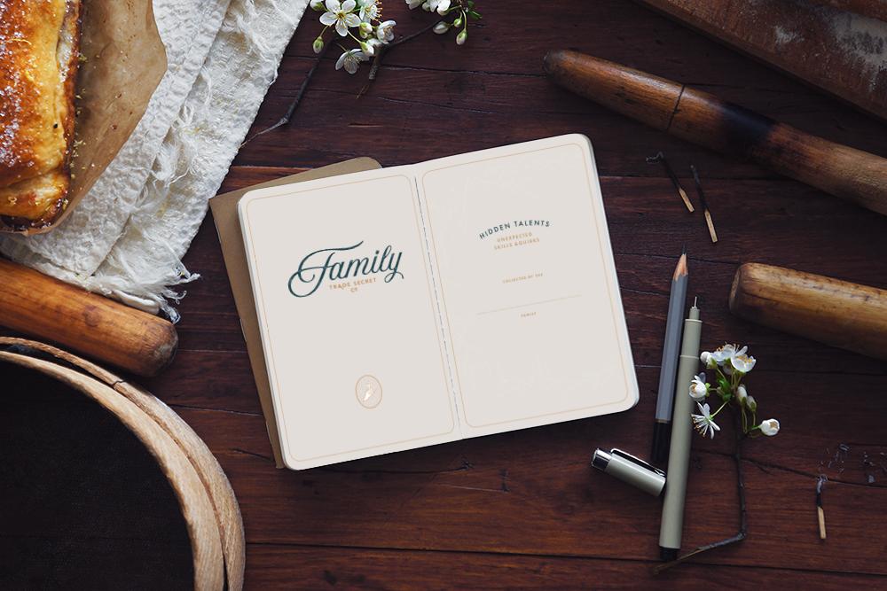 Family Trade Secret Branding and Website Design by Meghan Lambert