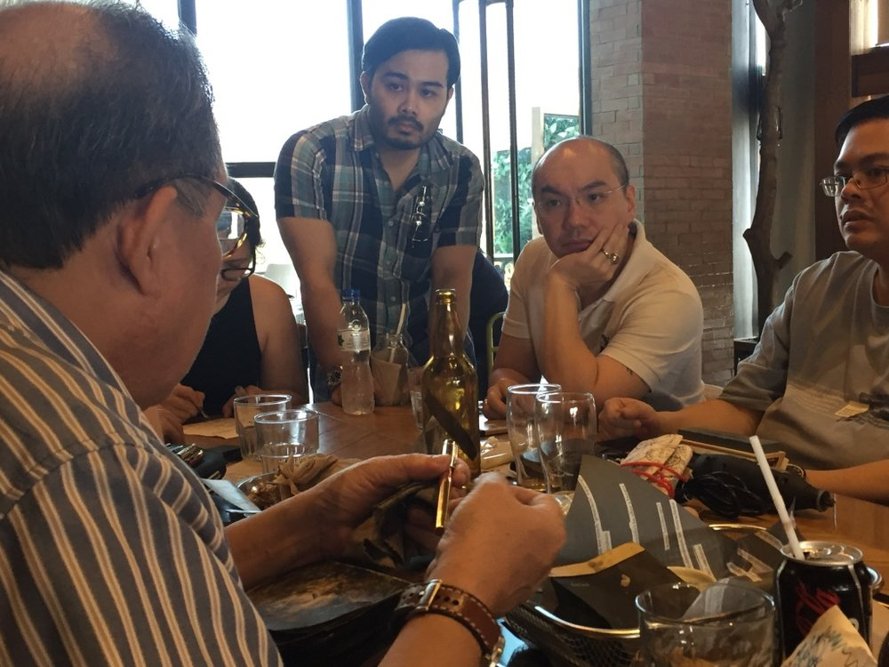 Butch holds court at a nibwork-focussed meet (their meets have themes!)