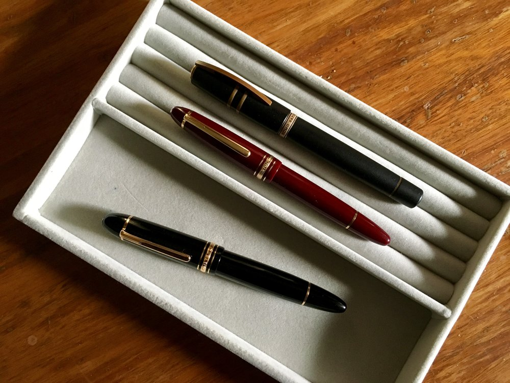 The workhorses: MB149, MB146, and Visconti Homo Sapiens.