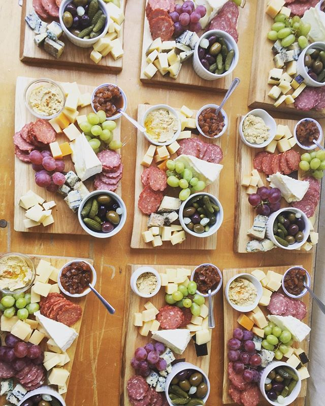 A yummy spread for guests to sit down to at a beautiful wedding from last weekend. @seedtosausage and @back40artisancheese with our own chutneys, spreads and breads, laid out on custom boards from @tristanadams  #local #supportlocal #localfood #desertlakegardens #wiltoncheese #weddingcatering #localcatering #infrontenac #charcuterieboard #handmade #fromscratch #frontenaccounty