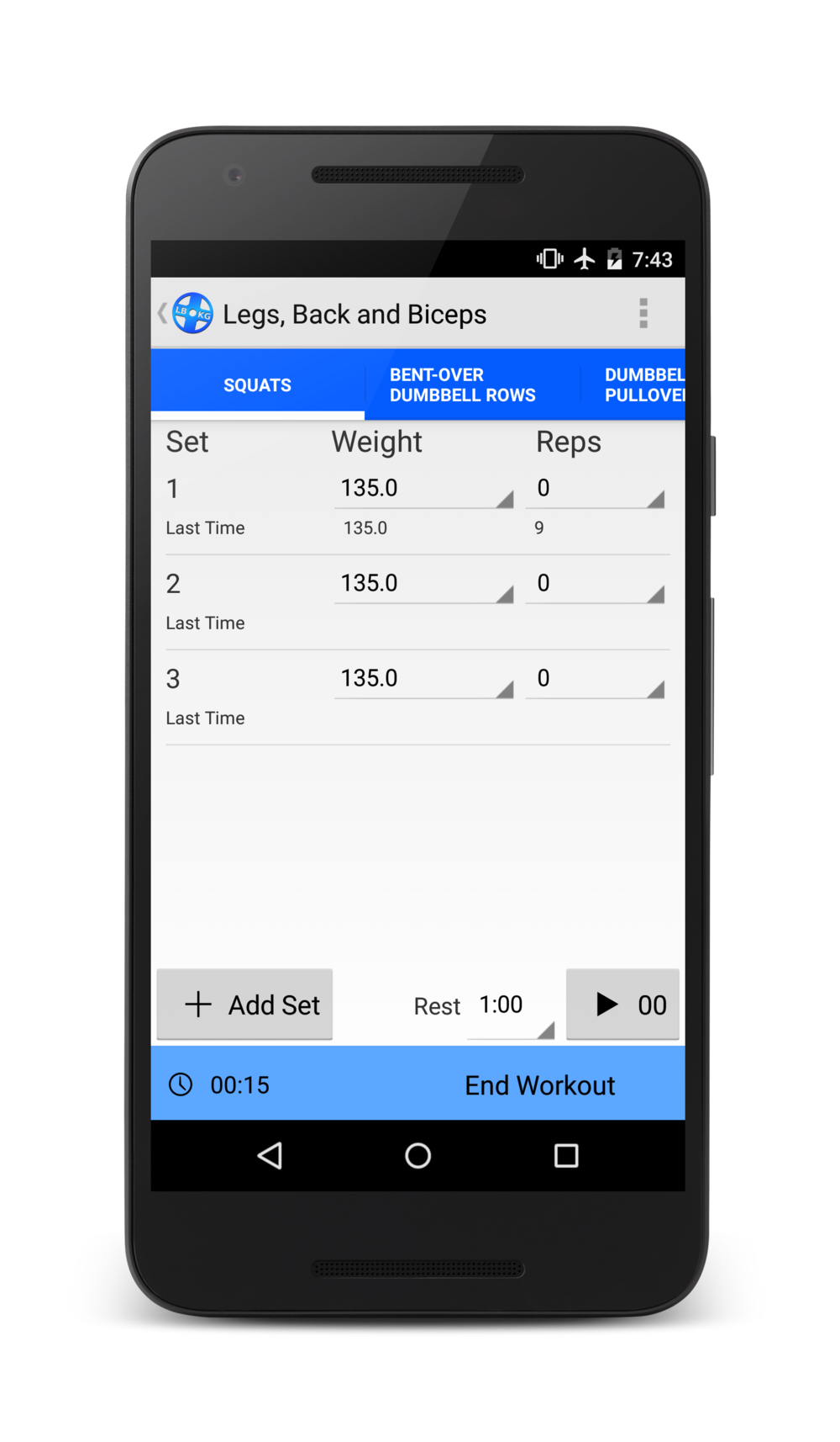 Enjoy the digital weight lifting log book made by weight lifters, for weight lifters.