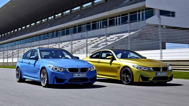 The new M3 sedan and it's M4 twin (BMW)