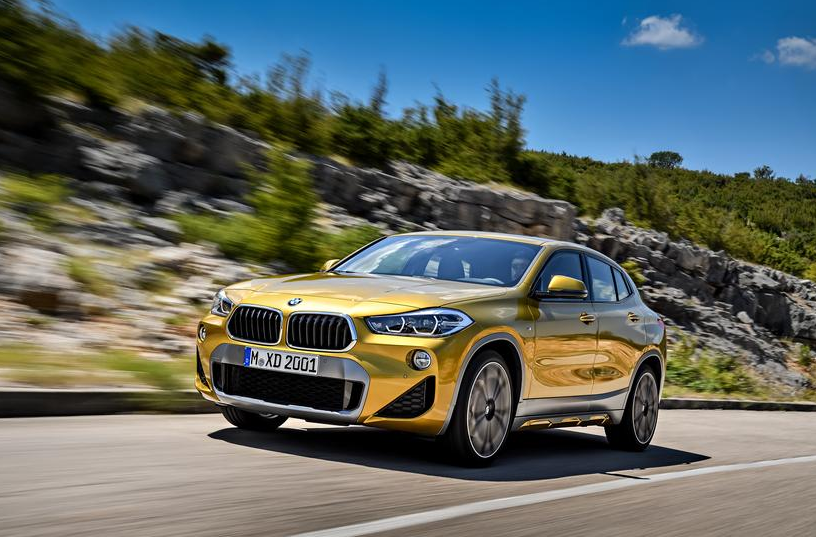 The new BMW X2. BMW   The X2 is BMW's latest crossover SUV.    It slots between the X1 and the X3.    Pricing wasn't announced, but the vehicle will make its official debut at the 2018 Detroit auto show and go on sale in the US in the spring.