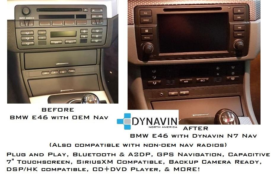 Dynavin N7-E46 Radio Navigation System, for BMW 3 series 1998-2006 — Bimmer  America LLC