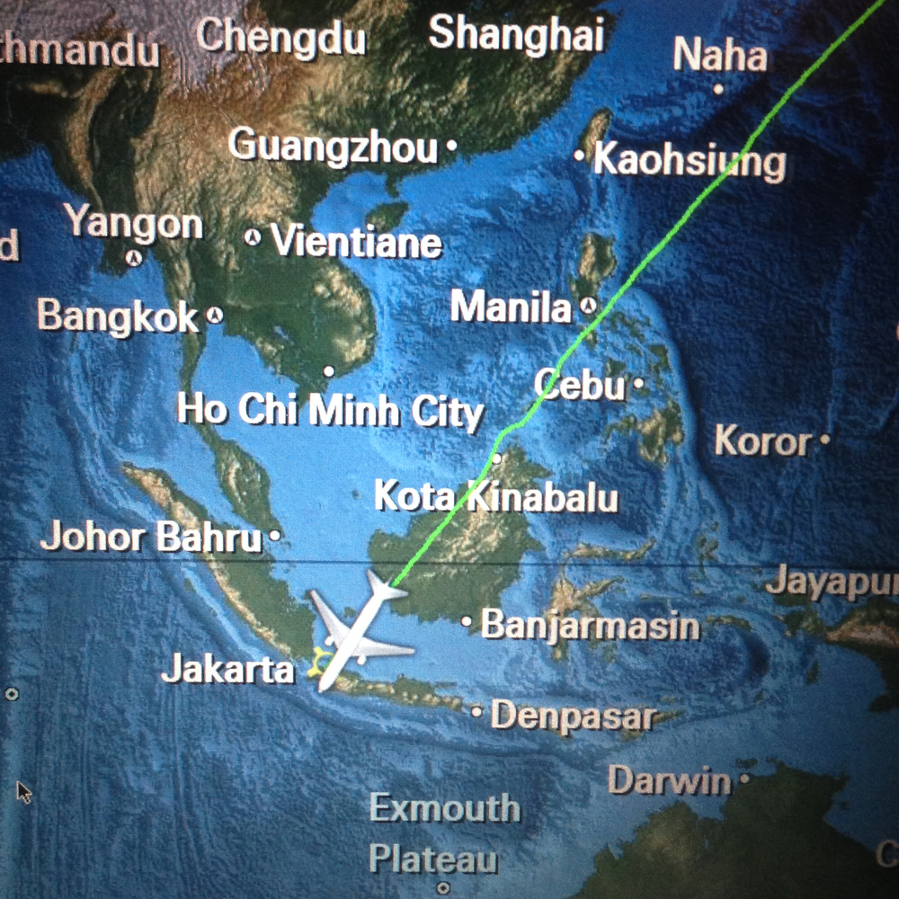 flight map Indonesia Japan