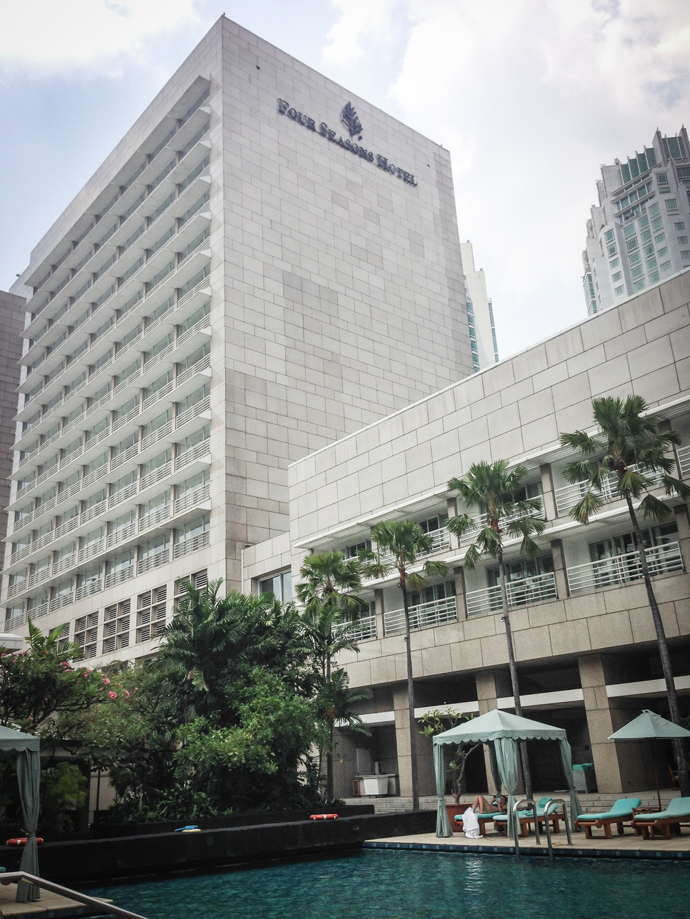 During our time in Jakarta, we stayed at the Four Seasons Hotel. It was a very comforting place to stay and helped balance the initial discomfort of navigating in a foreign country. It also provided an intense contrast with our future room and board arrangements at Camp Tuanan.