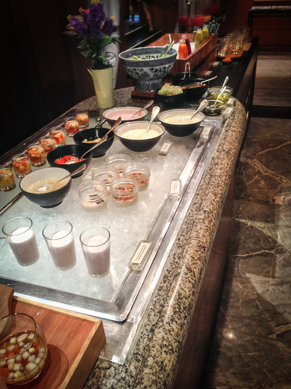 The Four Seasons offered a delicious breakfast buffet every morning which offered a huge variety of foods.